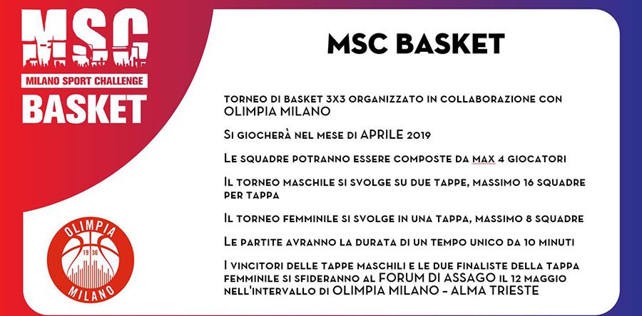 Milano Sport Challenge (MSC) - Basket