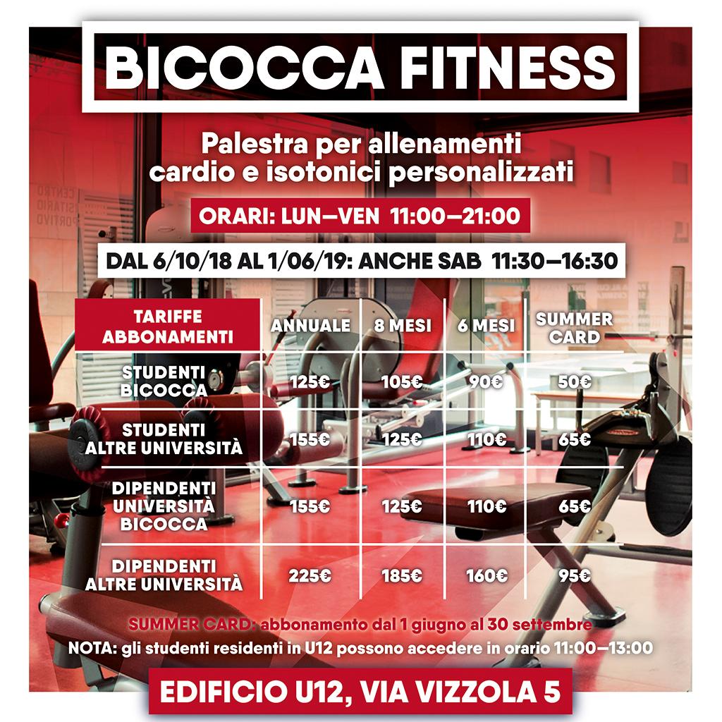 Bicocca Fitness - tariffe
