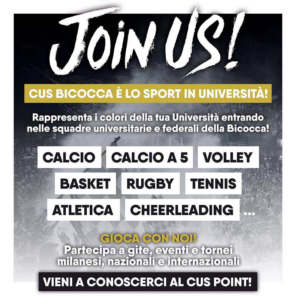 Gioca con noi! - CUS Bicocca - Join us!