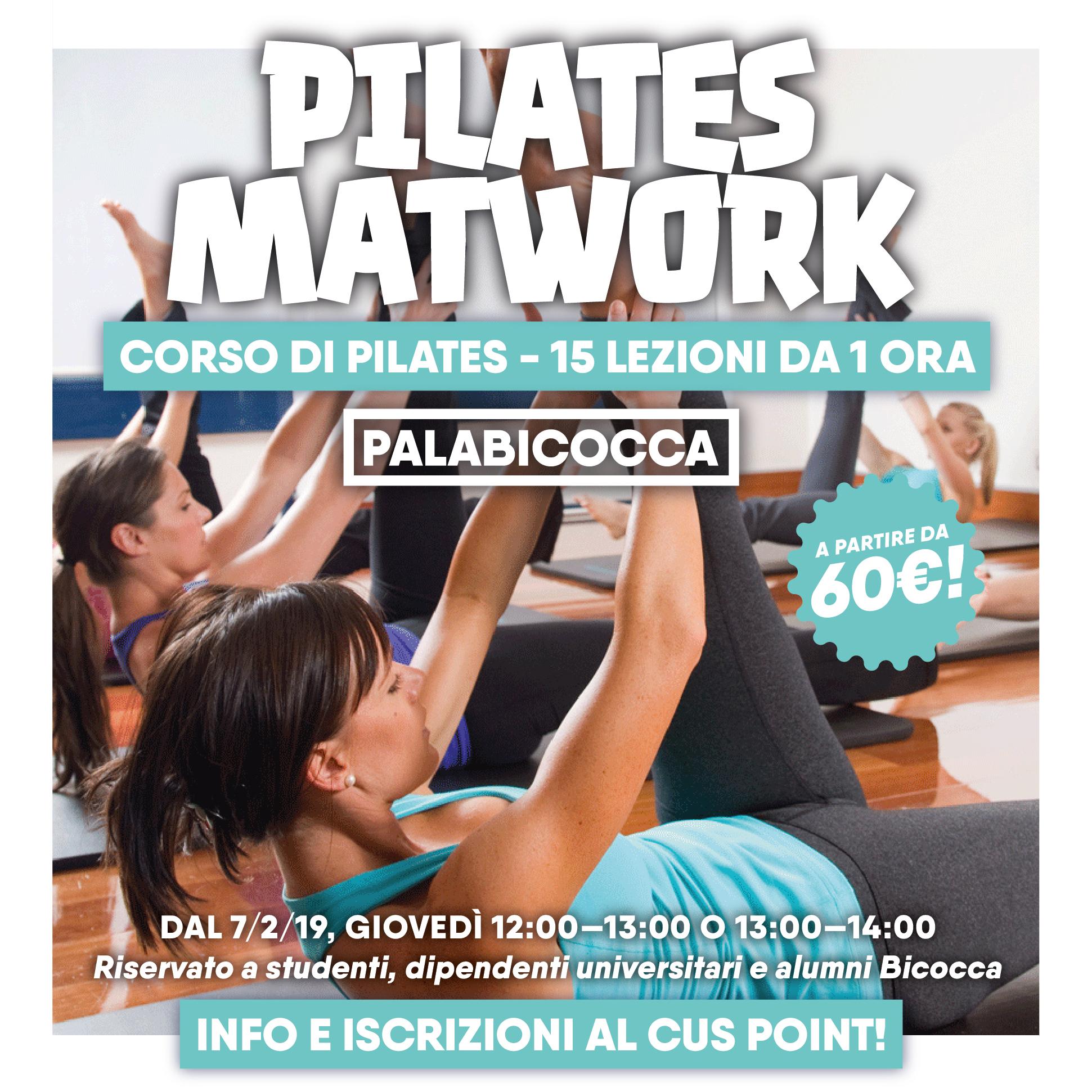 Corso di Pilates 2019 - CUS Bicocca