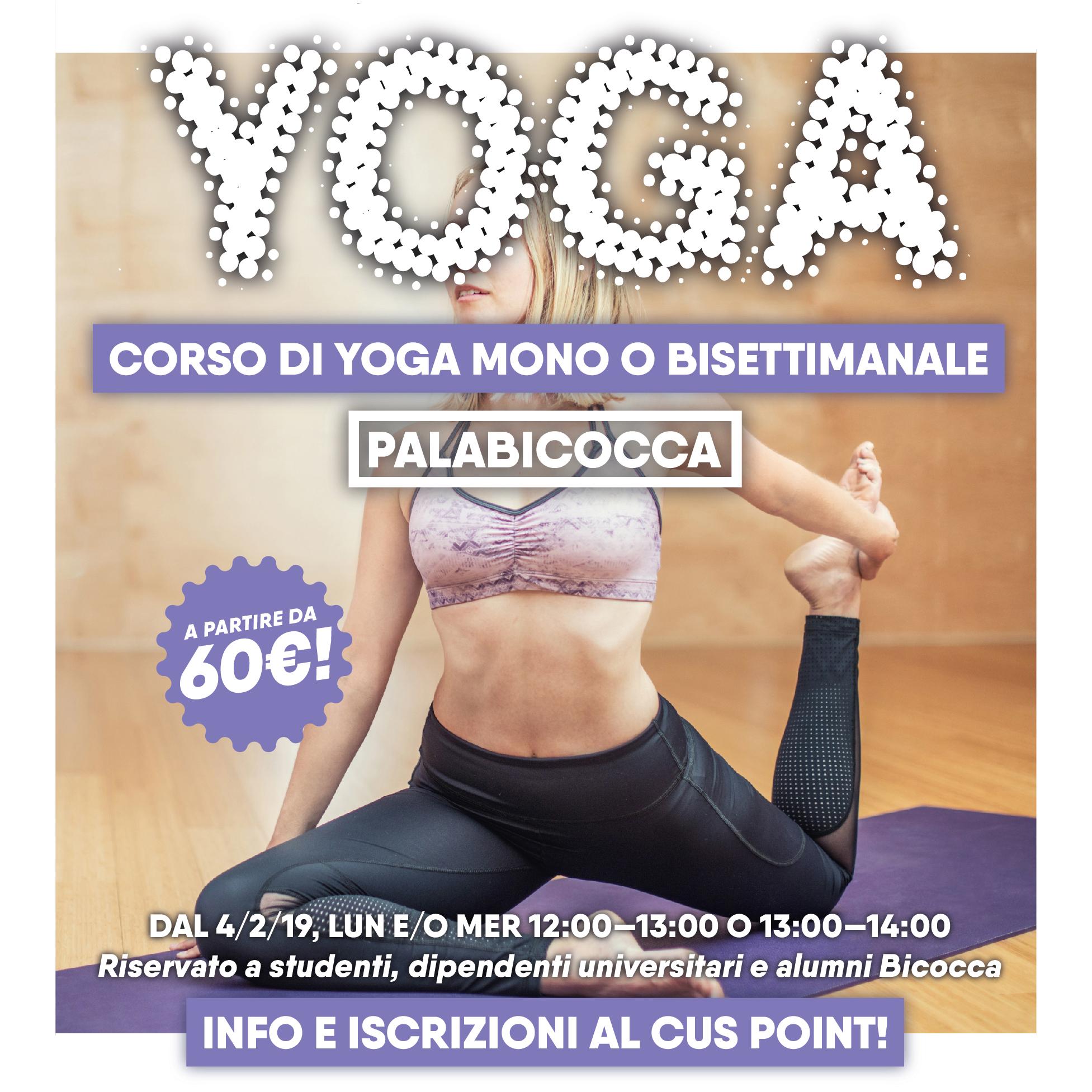 Corso di Yoga 2019 - CUS Bicocca