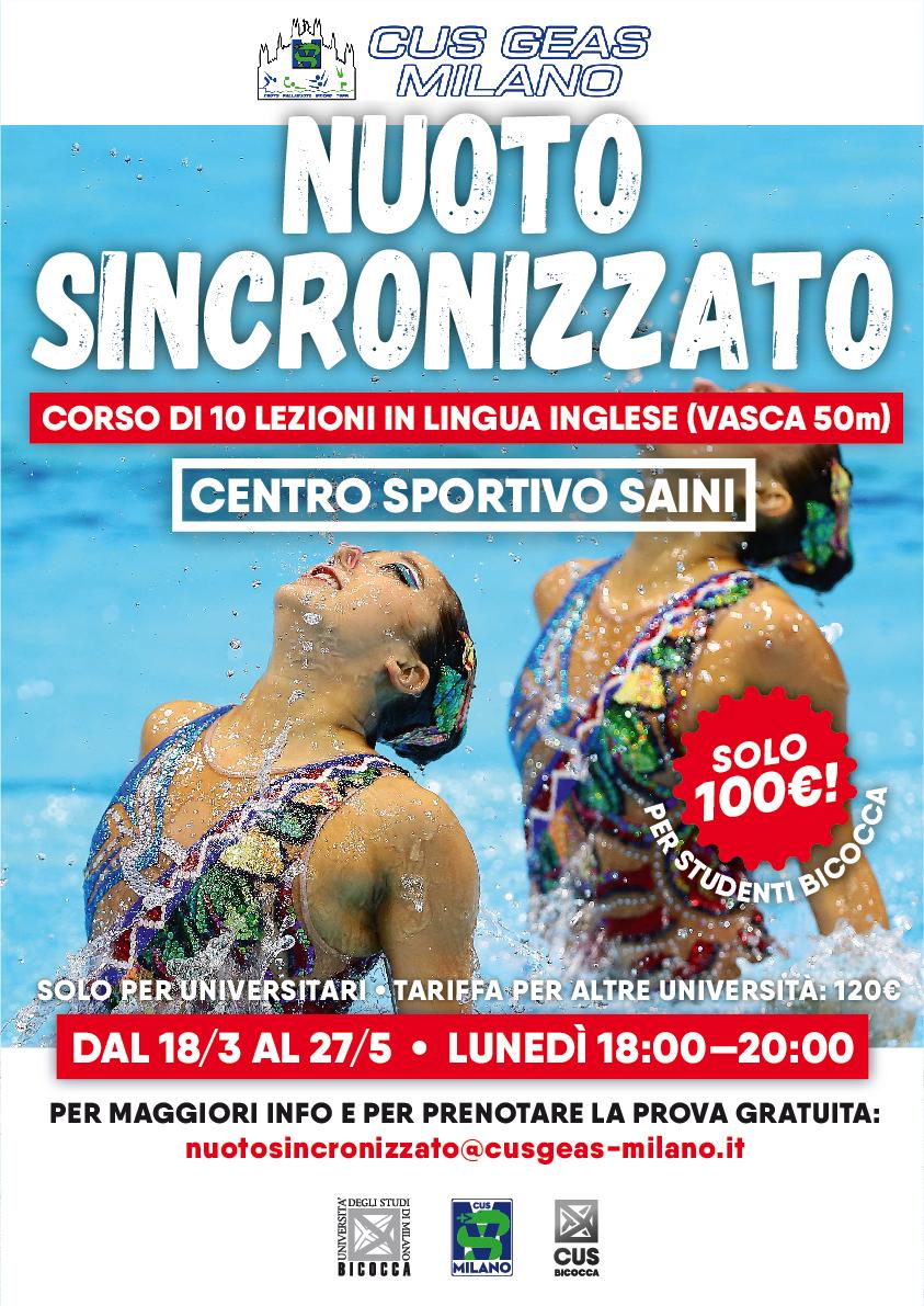 Corso di Nuoto Sincronizzato - CUS Bicocca