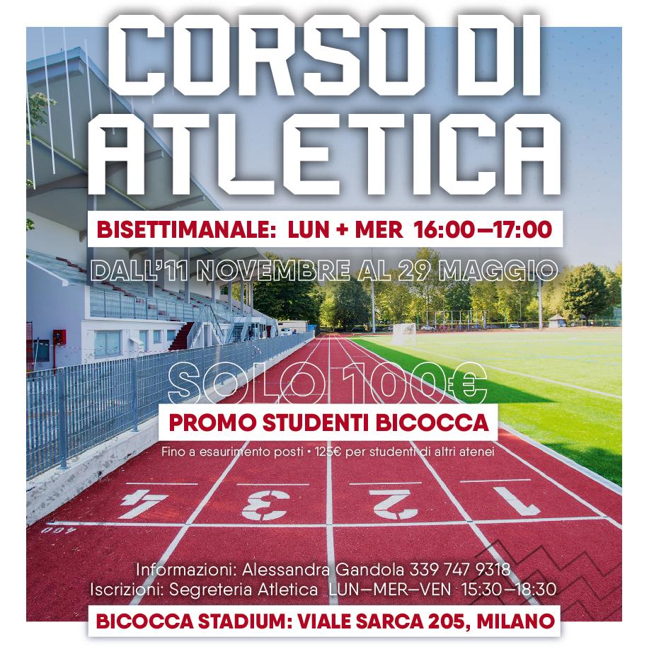 Corso di atletica 2019/20 - Bicocca Stadium