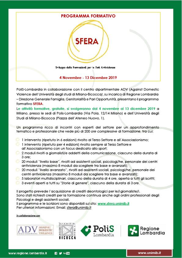 SFERA - Sviluppo della FormazionE per Reti Antiviolenza