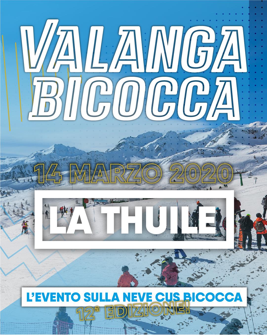 Valanga Bicocca 2020 • SAVE THE DATE!
