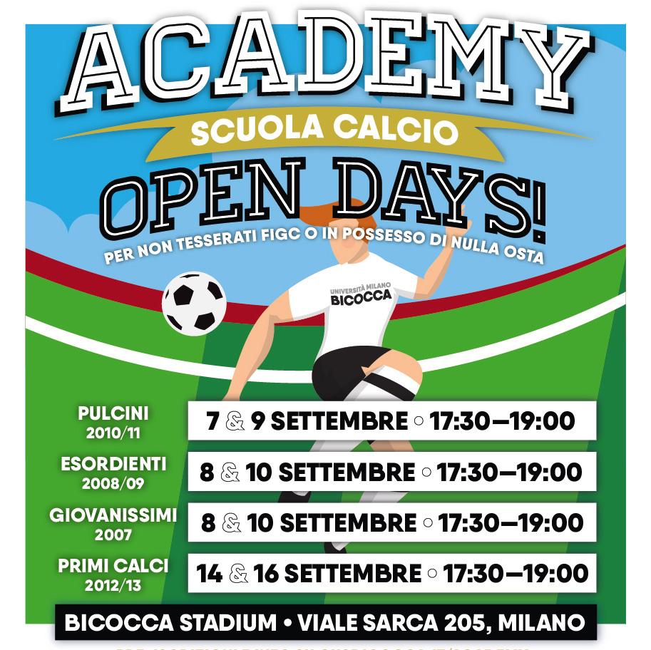 CUS Bicocca Academy • Scuola Calcio • OPEN DAYS 2020-21