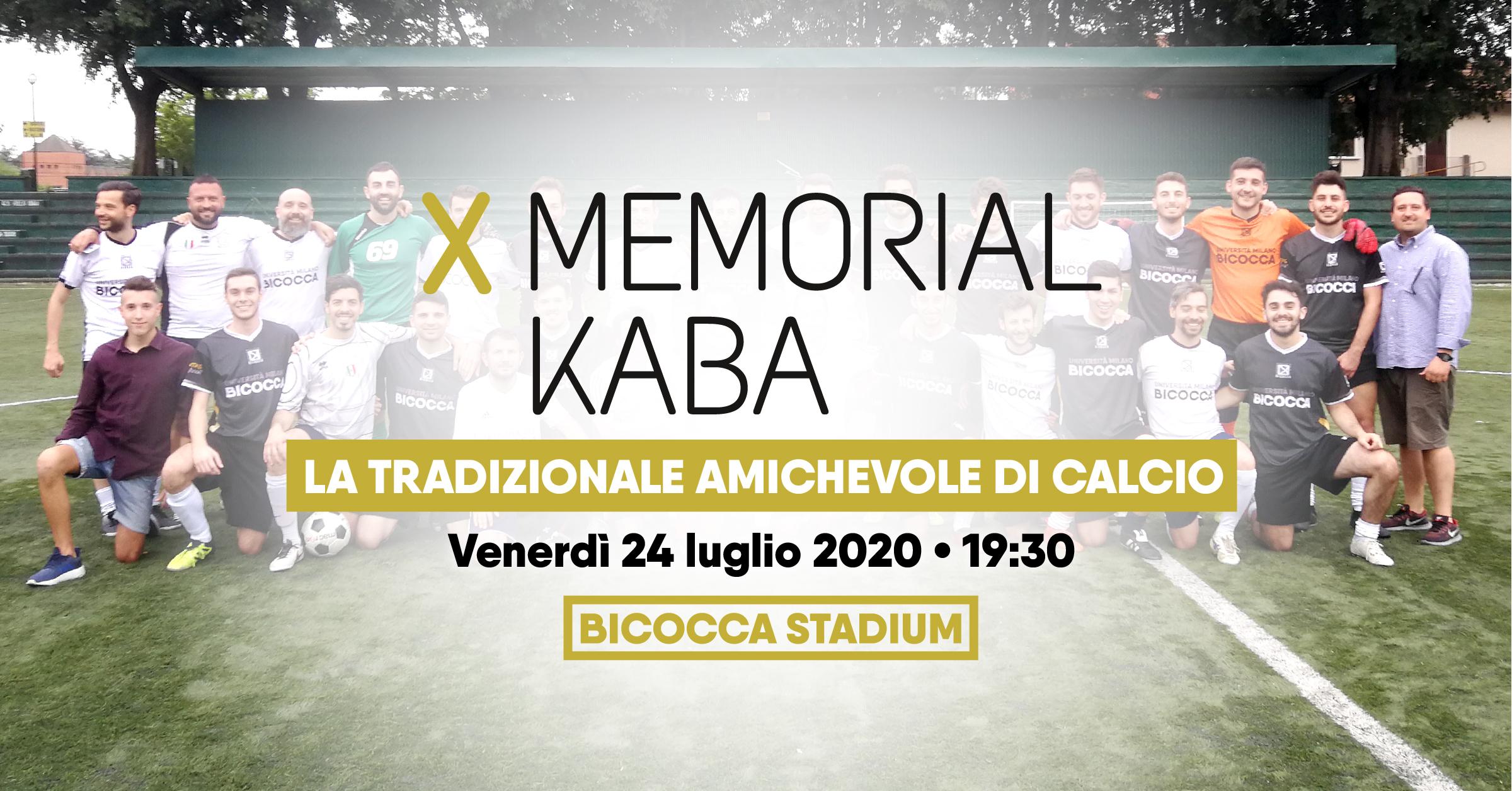 X Memorial Kaba • 24/07/2020 • CUS Bicocca