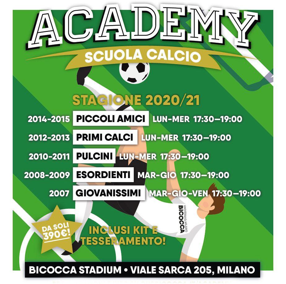 Pre-iscrizioni aperte per l'Academy 2020/21!