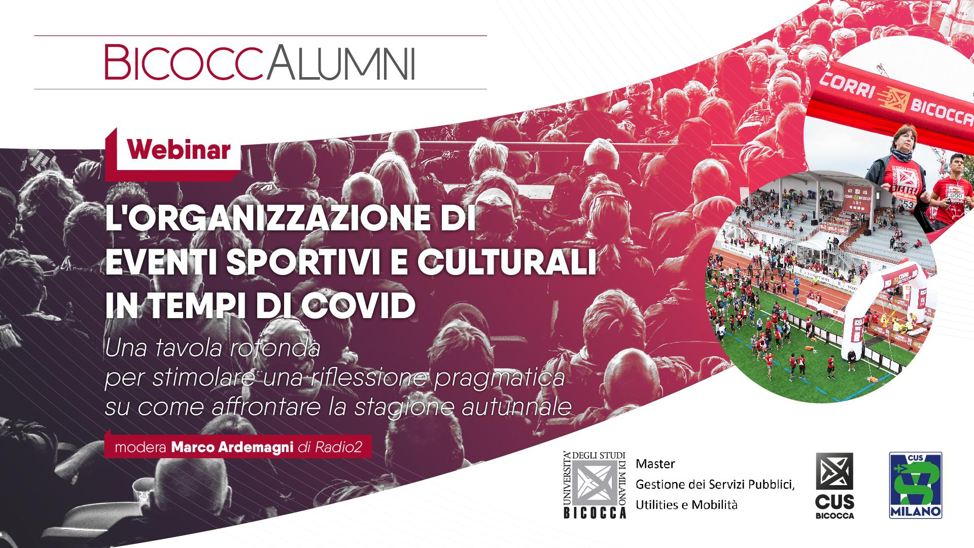 Webinar sull'organizzazione di eventi post-covid • CUS Bicocca
