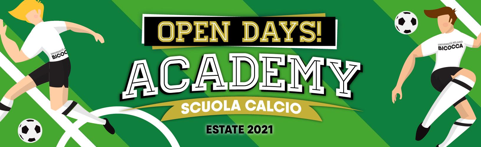 Open Days • CUS Bicocca Academy • Scuola Calcio